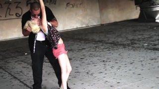 HelplessTeens.com Halle Von Must Endure Outdoor Bondage Sex for a Ride