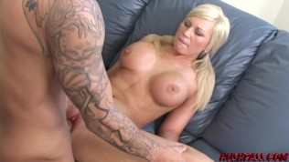 Pigtails blonde Tiffany fucked hard after sucking big dick